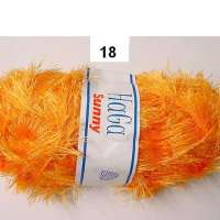 100 Gramm Fransengarn Farbe: 18  orange