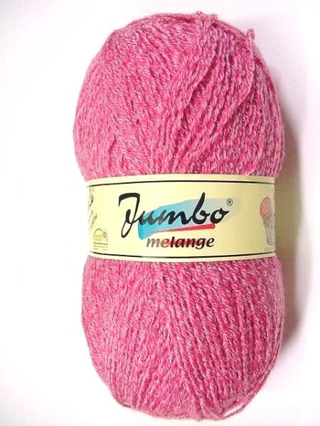 150g JUMBO-Melange von Peterle, Wolle z. Stricken und Häkeln in koralle
