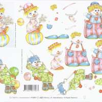 3D Schneidebogen - Le Suh - Kinder Motive - Clown's